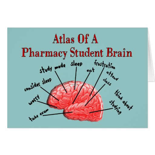Atlas of a Pharmacy Student Brain Card