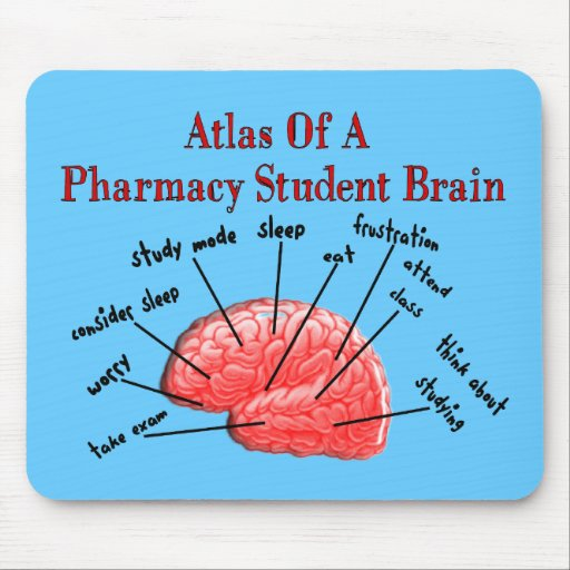 Atlas of a Pharmacy Student Brain Mouse Pad