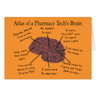 Atlas of a Pharmacy Tech's Brain Card