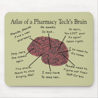 Atlas of a Pharmacy Tech's Brain Mouse Pad