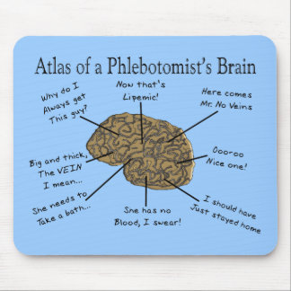 Atlas of a Phlebotomist's Brain Mouse Pad