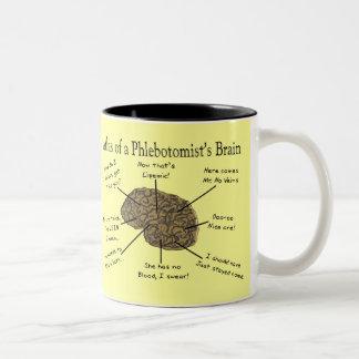 Atlas of a Phlebotomist's Brain Two-Tone Coffee Mug