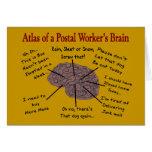 Atlas of a Postal Worker's Brain Greeting Card