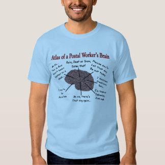 Atlas of a Postal Worker's Brain T-shirt