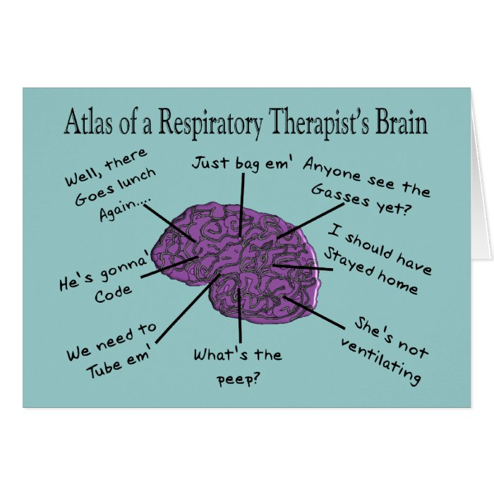 Atlas of a Respiratory Therapist's Brain Card