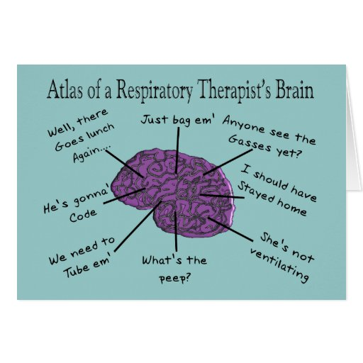 Atlas of a Respiratory Therapist's Brain Greeting Card