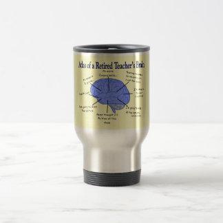Atlas of a Retired Teacher's Brain 15 Oz Stainless Steel Travel Mug