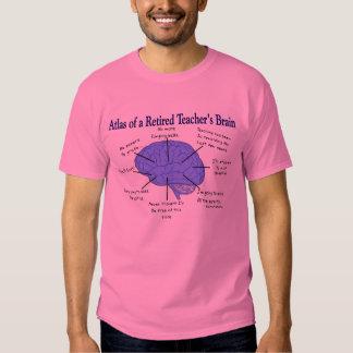 Atlas of a Retired Teacher's Brain Gfits Shirt