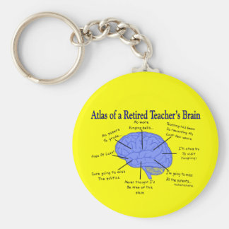 Atlas of a Retired Teacher's Brain Key Chains