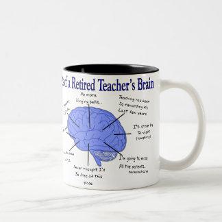 Atlas of a Retired Teacher's Brain Two-Tone Coffee Mug