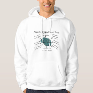 Atlas of a Trauma Nurse's Brain Hoodie