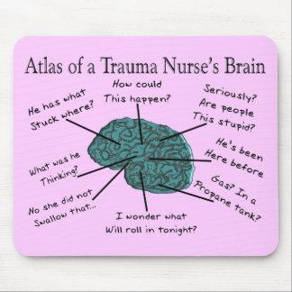Atlas of a Trauma Nurse's Brain Mouse Pad