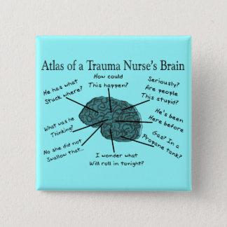 Atlas of a Trauma Nurse's Brain Pinback Button