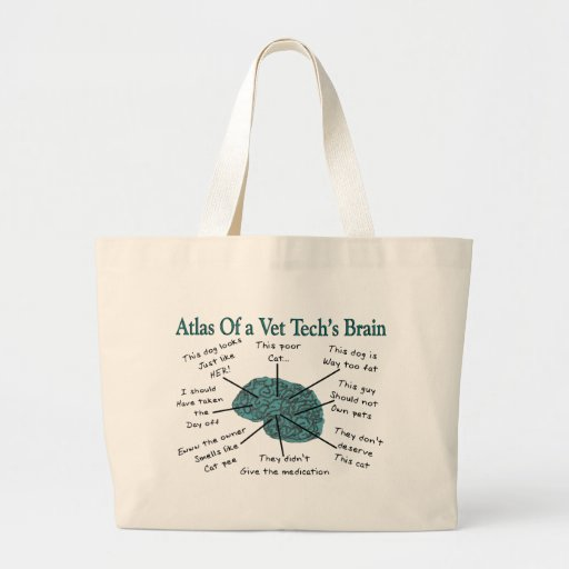 Atlas of a Vet Tech's Brain Jumbo Tote Bag
