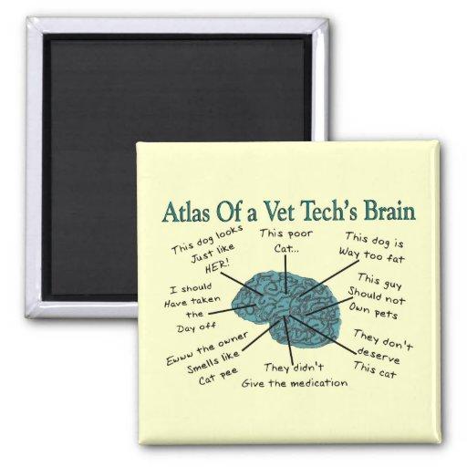 Atlas of a Vet Tech's Brain Fridge Magnet