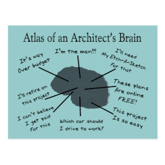Atlas of an Architect s Brain Postcard