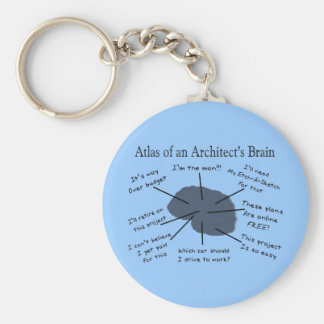 Atlas of an Architect's Brain Keychain