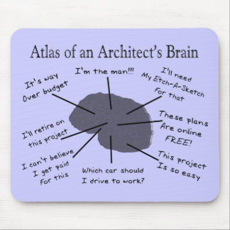 Atlas of an Architect's Brain Mousepad