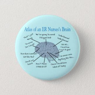 Atlas of an ER Nurse's Brain Gifts Button