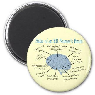 Atlas of an ER Nurse's Brain Gifts Magnet