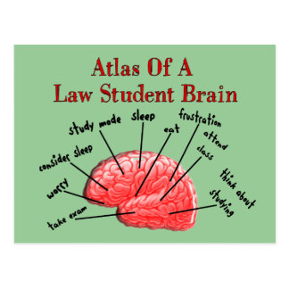 Atlas of Law Student Brain Post Card