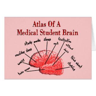 Atlas of Medical Student Brain Greeting Card