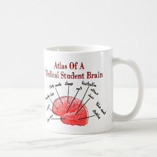 Atlas of Medical Student Brain Coffee Mugs
