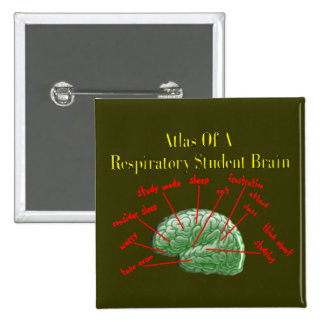 Atlas of Respiratory Student Brain Gifts Button