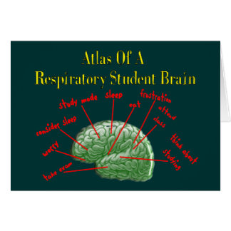 Atlas of Respiratory Student Brain Gifts Card