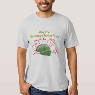 Atlas of Respiratory Student Brain Gifts T Shirt