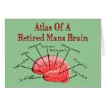 Atlas of Retired Mans Brain Greeting Card