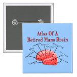 Atlas of Retired Mans Brain Pinback Button