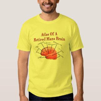 Atlas of Retired Mans Brain Tee Shirt