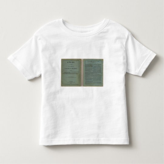Atlas of universal history toddler t-shirt