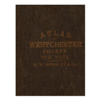 Atlas of Westchester County, NY Postcard