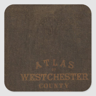 Atlas of Westchester County, NY Square Sticker