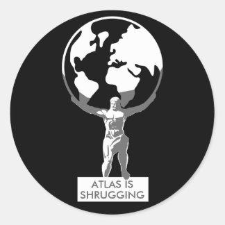 Atlas Pegatinas Redondas