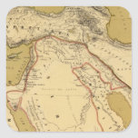 Atlas Pegatina Cuadrada