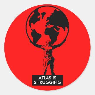 Atlas Pegatina Redonda
