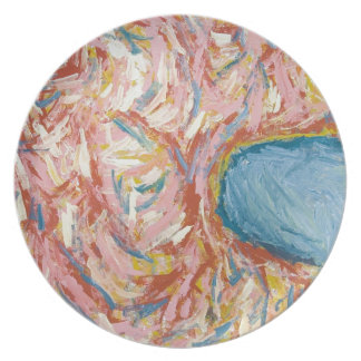 Atlas s Back and Shoulders abstract expressionism Dinner Plate