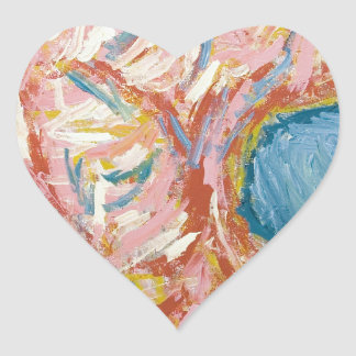 Atlas s Back and Shoulders abstract expressionism Heart Sticker