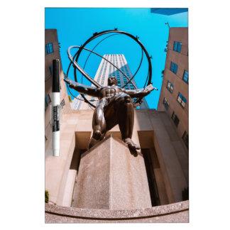 Atlas Shrouded by 30 Rockefeller Plaza Dry Erase Board