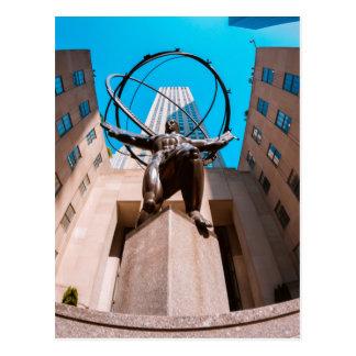 Atlas Shrouded by 30 Rockefeller Plaza Postcard