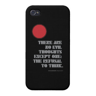 Atlas Shrugged Quote Black iPhone 4 Covers