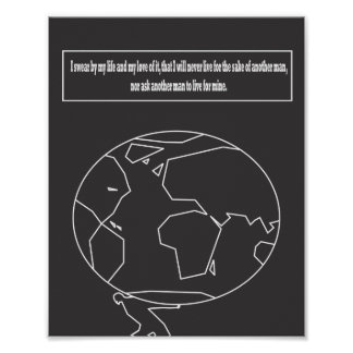 Atlas Shrugged quote Posters