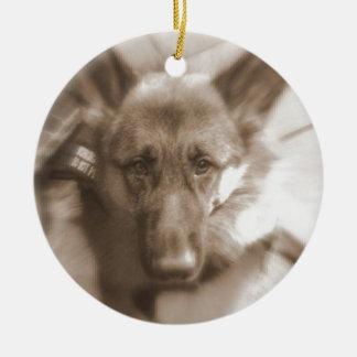 Atlas the Wonderdog Ceramic Ornament
