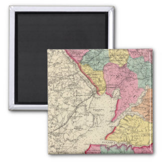 Atlas topográfico de los condados 2 de Maryland Imán Cuadrado