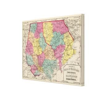 Atlas topográfico de los condados 2 de Maryland Impresión De Lienzo