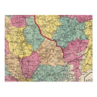 Atlas topográfico de los condados 3 de Maryland Tarjetas Postales