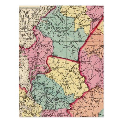 Atlas topográfico de los condados de Maryland Tarjeta Postal